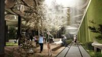 Artists impression of Low Line park