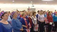 The Voice Community Choir singing the new anthem in Bournemouth