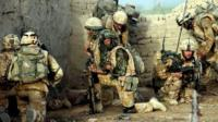 Ministry of Defence undated photo of soldiers in action in Afghanistan