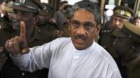 Sarath Fonseka pictured on 25 January 2012