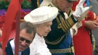 Queen and Duke of Edinburgh on Spirit of Chartwell