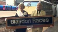 Blaydon Races train plaque