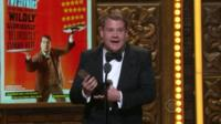 James Corden picking up his Tony Award