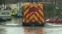 AA van in flood waters