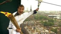 Chief Scout Bear Grylls with the torch
