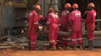 Ugandan oil workers