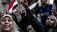 "Supporters of the Muslim Brotherhood""s candidate gather in Cairo"