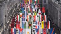 National flags of the countries taking part in London 2012