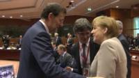 Angela Merkel and Mariano Rajoy