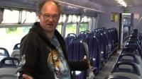 On board a so-called 'ghost train'