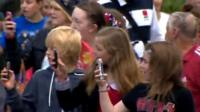 Fans watch The Wanted carry the flame