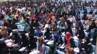 Young Afghan women and men from the National Youth Jirga.