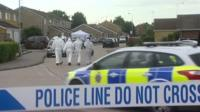 Police at the scene of shooting in Clacton-on-Sea
