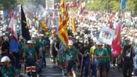 Spanish miner march in Madrid