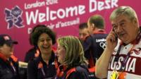 Athletes arrive for Olympic games at Heathrow Airport