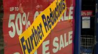 Shop sale sign