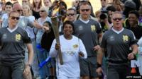Doreen Lawrence carries Olympic torch