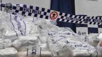 Drugs in police bags