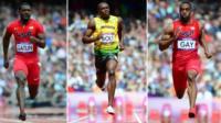 Justin Gatlin, Usain Bolt, Tyson Gay