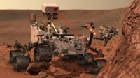 Computer image of the Mars rover Curiosity