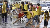 Manila floods clean up
