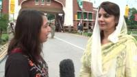 The BBC's Tulip Mazumdar speaks to the vice president of the Chamber of Commerce in Lahore