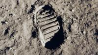 Bootprint of Buzz Aldrin on the Moon as part of the Apollo 11 mission
