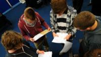 Children read exam results