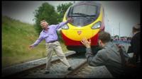 Sir Richard Branson and train