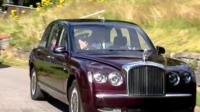 The Queen and Prince Philip in a car