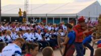 Paralympians watching performance