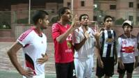 Menbers of the Egyptian deaf football team