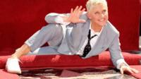 Ellen DeGeneres receives a star on the Hollywood Walk of Fame