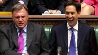 Shadow Chancellor Ed Balls (left) and Labour leader Ed Miliband