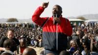 Julius Malema at Marikana, 18 Aug