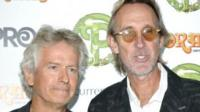 (l-r) Tony Banks and Mike Rutherford, of Genesis