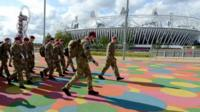 Military at the Olympic Park