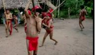 Yanomami villagers dancing