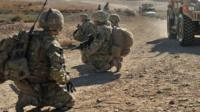 British soldiers in Nahr-e Saraj district of Helmand province, Afghanistan