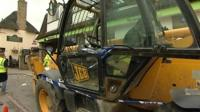 JCB used in ram-raid