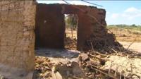Destroyed hut