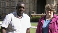 Garth Crooks and Therese Coffey