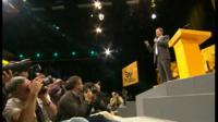Nick Clegg on stage