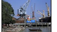 Docks in Burma