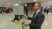 Tim Farron gets ready to vote