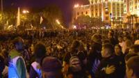 People gathered in Madrid