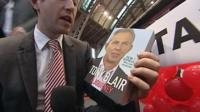 Adam Fleming with Tony Blair book