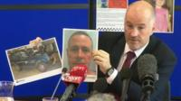 Detective Superintendent Reg Bevan with images of Mark Bridger and his car