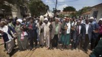 Kenyan Mau Mau War Veterans and their supporters celebrate