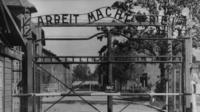 The gate of Auschwitz 1 concentration camp